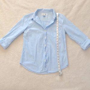 Gap XS women button down blue long sleeve shirt